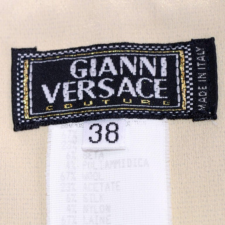 Versace Strapless Runway Dress in Houndstooth Plaid, Spring 1998 For Sale 6