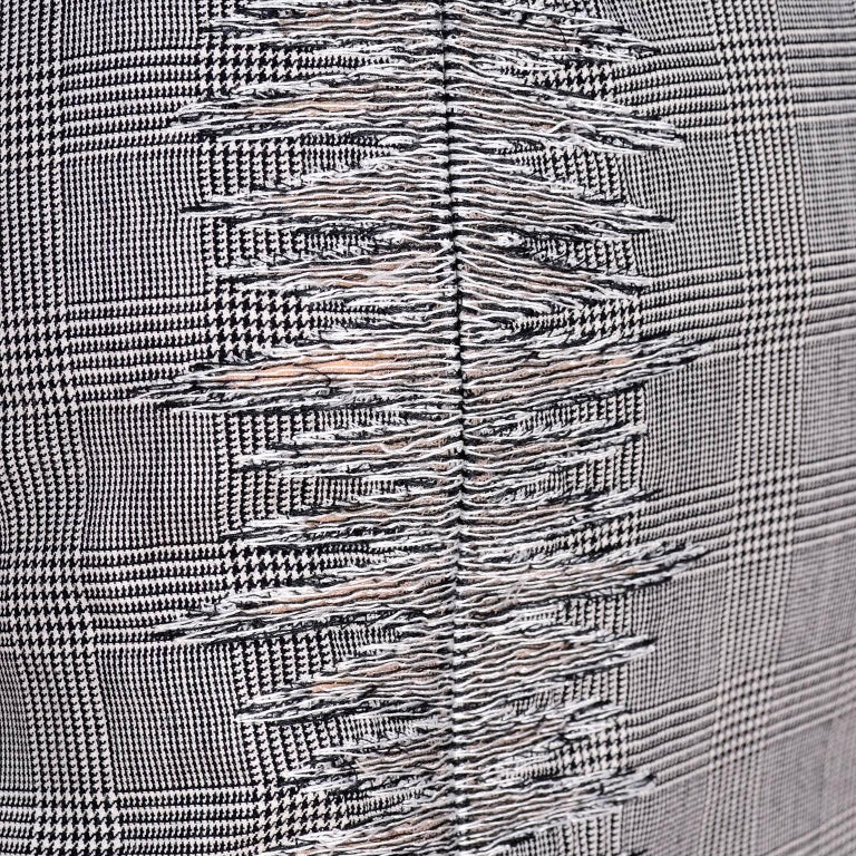 Versace Strapless Runway Dress in Houndstooth Plaid, Spring 1998 For Sale 3