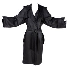 Alber Elbaz Lanvin Coat Spring Summer 2006 Runway Black Silk Trench Coat