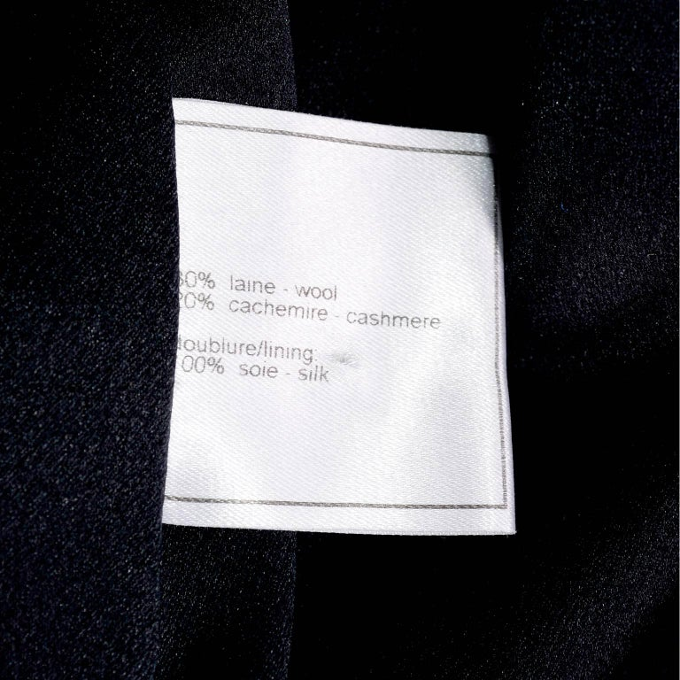 Chanel Wool and Cashmere Coat with CC Monogram Buttons, 1998  For Sale 7