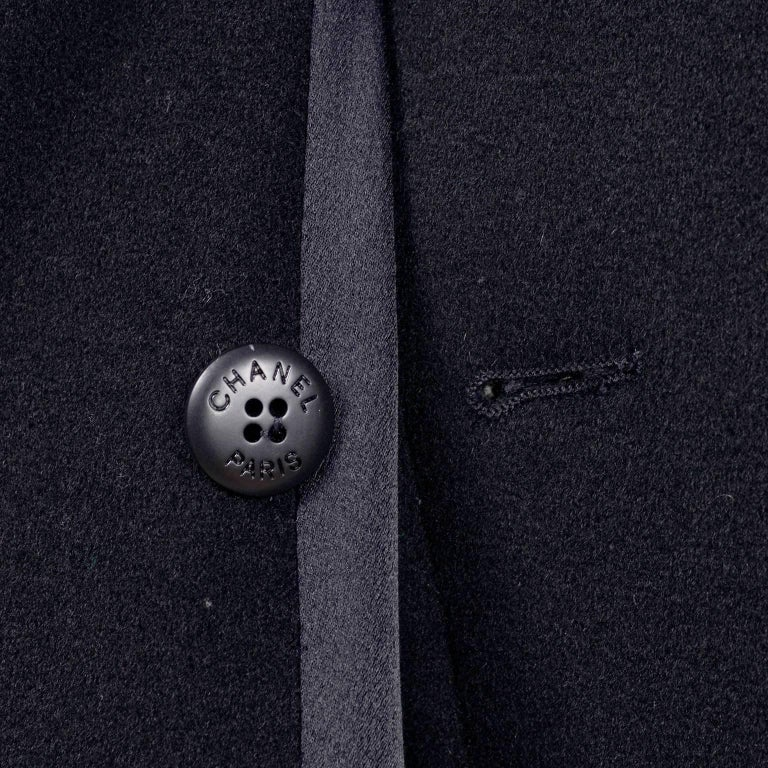 Chanel Wool and Cashmere Coat with CC Monogram Buttons, 1998  For Sale 2
