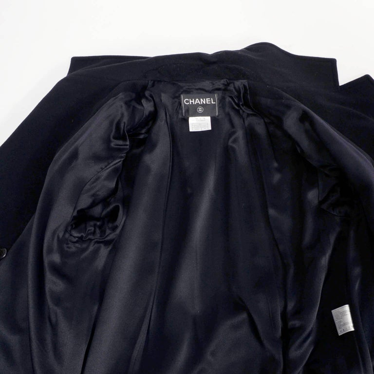 Chanel Wool and Cashmere Coat with CC Monogram Buttons, 1998  For Sale 3