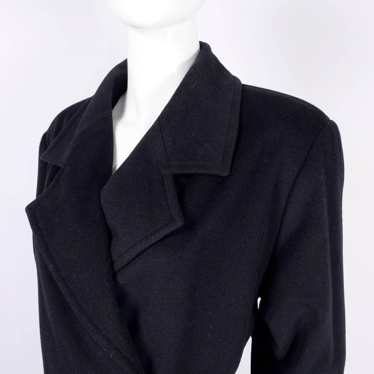 Chanel Wool and Cashmere Coat with CC Monogram Buttons, 1998  For Sale 8