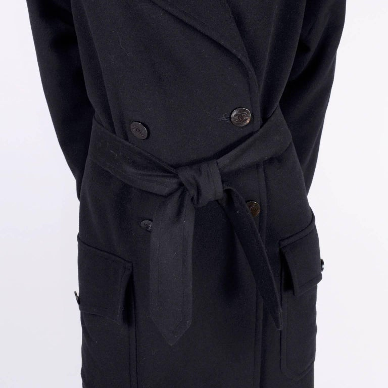 Chanel Wool and Cashmere Coat with CC Monogram Buttons, 1998  For Sale 5