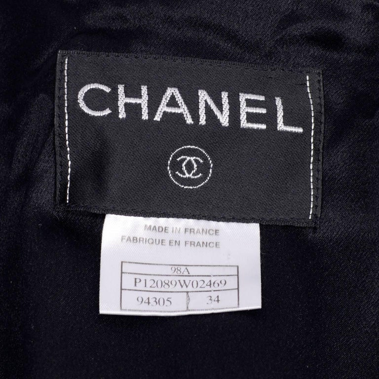 Chanel Wool and Cashmere Coat with CC Monogram Buttons, 1998  For Sale 6