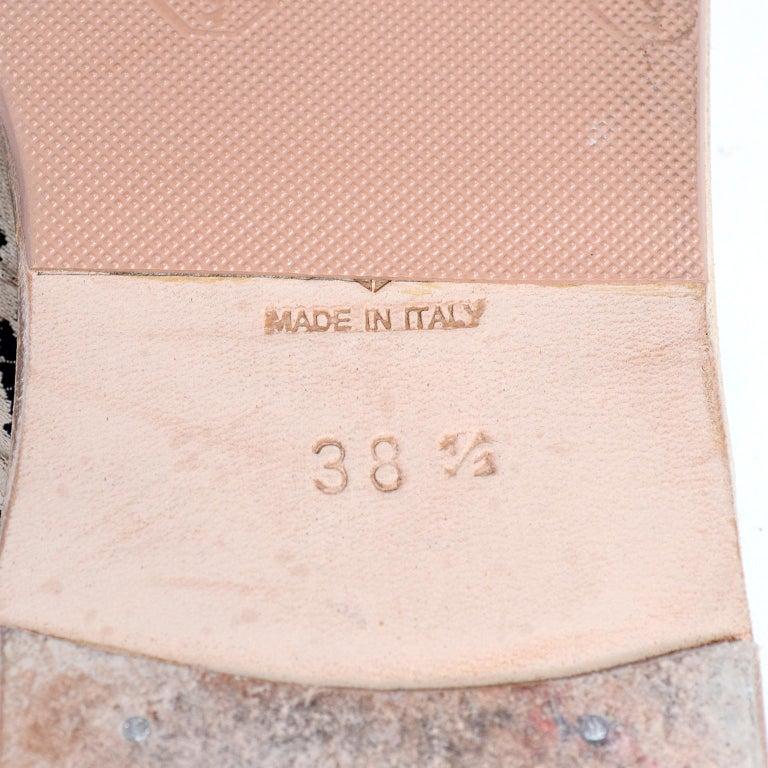 Manolo Blahnik Cheetah Print Gold Thong Sandals Size 38.5 For Sale 5