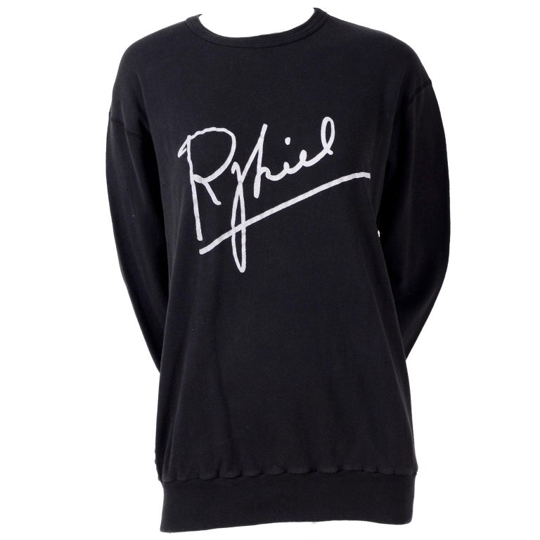 Rare Vintage Sonia Rykiel 1983 Sweatshirt Invitation to 1st US Boutique Opening  For Sale
