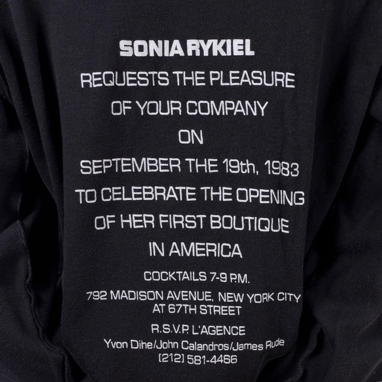 This rare black crew neck super soft sweatshirt was designed by Sonia Rykiel. The top has