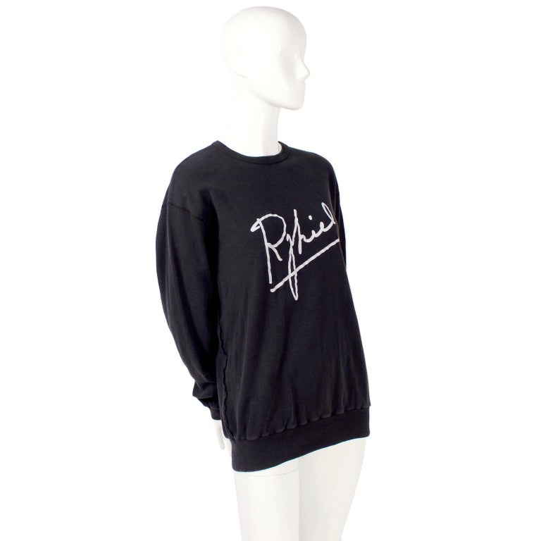 Rare Vintage Sonia Rykiel 1983 Sweatshirt Invitation to 1st US Boutique Opening  In Excellent Condition For Sale In Portland, OR