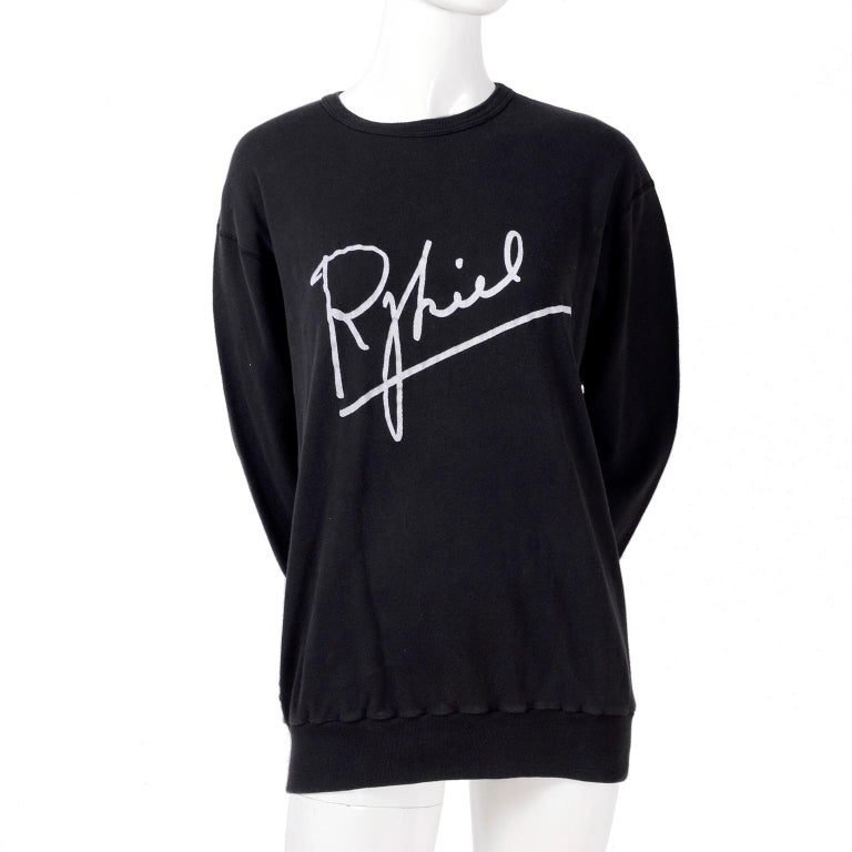 Rare Vintage Sonia Rykiel 1983 Sweatshirt Invitation to 1st US Boutique Opening  For Sale 2