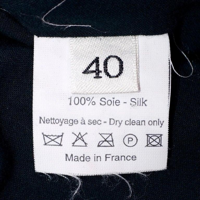 Alber Elbaz 2006 Lanvin Jacket / Top in Black Silk w/ Blouson Sleeves  For Sale 3