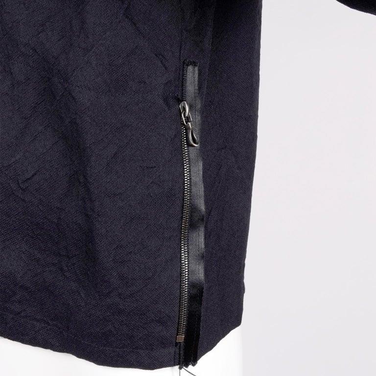 Women's Alber Elbaz 2006 Lanvin Jacket / Top in Black Silk w/ Blouson Sleeves  For Sale