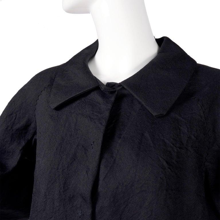 Alber Elbaz 2006 Lanvin Jacket / Top in Black Silk w/ Blouson Sleeves  For Sale 1