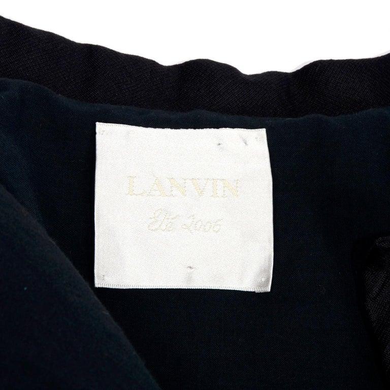 Alber Elbaz 2006 Lanvin Jacket / Top in Black Silk w/ Blouson Sleeves  For Sale 4