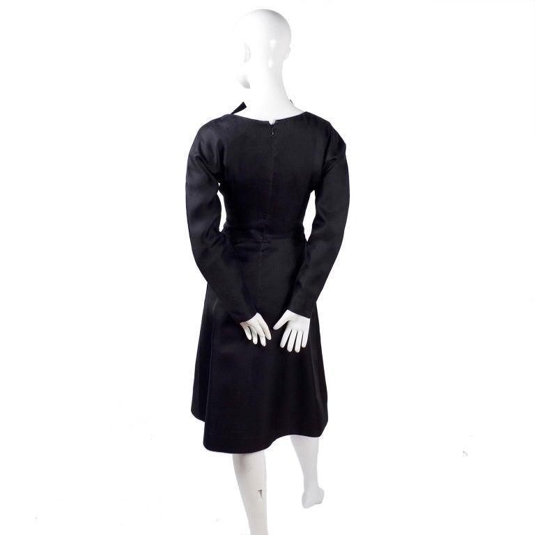 Vintage Black Geoffrey Beene Dress W/ Detailed Origami Folds & Styling For Sale 4