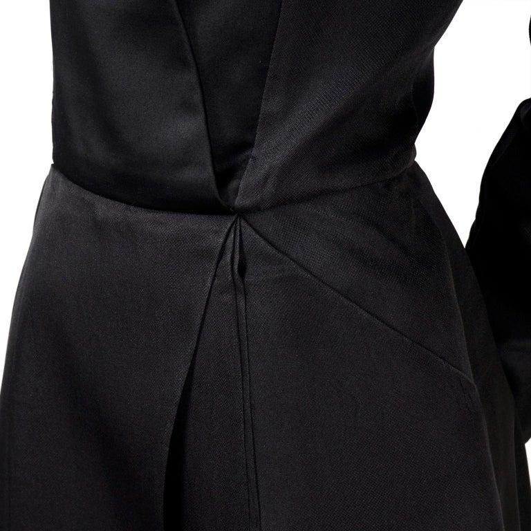 Vintage Black Geoffrey Beene Dress W/ Detailed Origami Folds & Styling For Sale 1