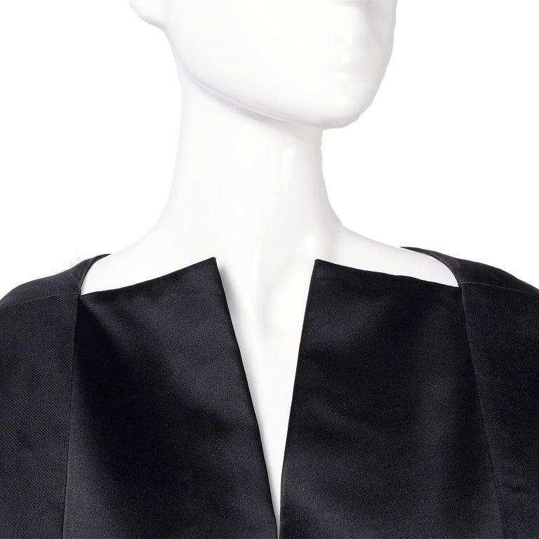 Women's Vintage Black Geoffrey Beene Dress W/ Detailed Origami Folds & Styling For Sale