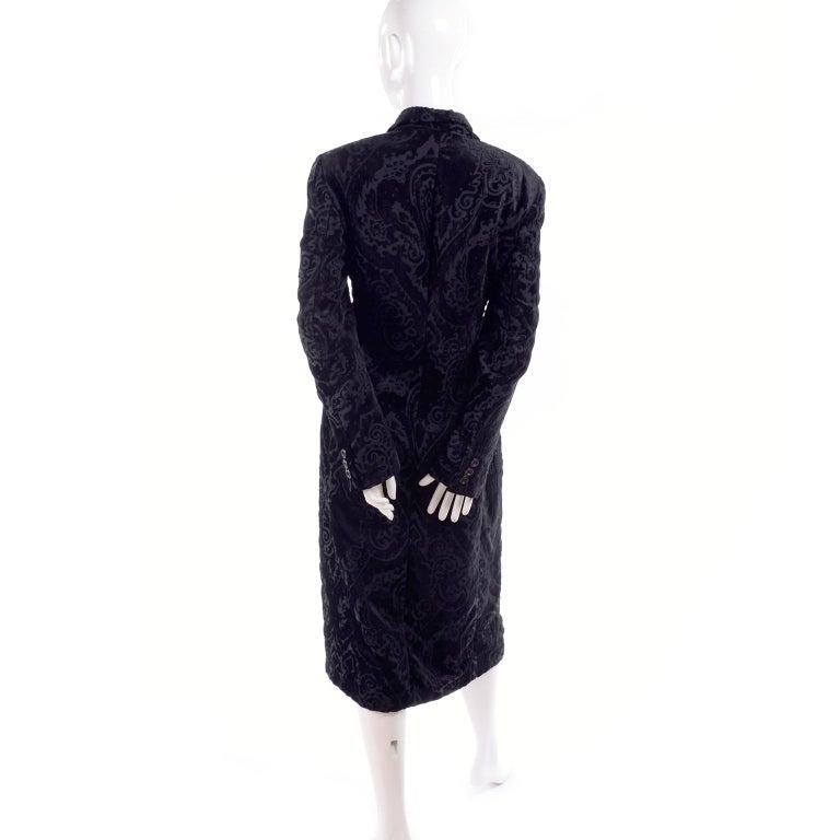 Women's Dolce & Gabbana Cut Velvet Vintage Evening Coat For Sale