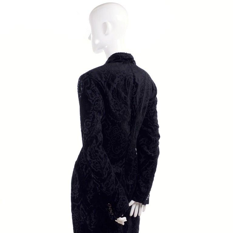 Dolce & Gabbana Cut Velvet Vintage Evening Coat For Sale 1