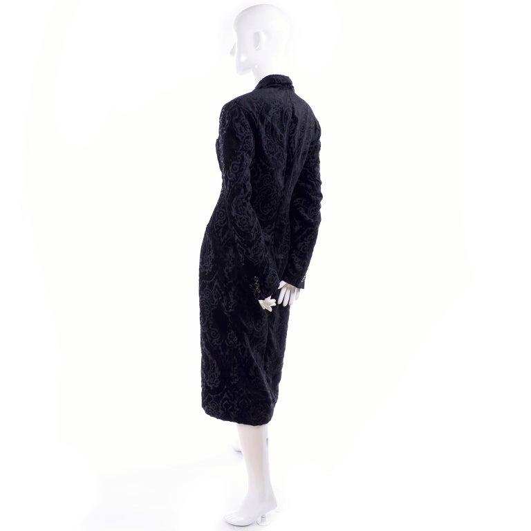 Dolce & Gabbana Cut Velvet Vintage Evening Coat For Sale 2