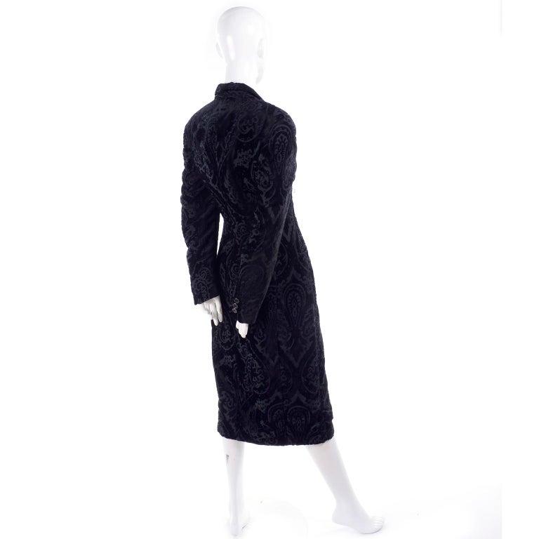 Dolce & Gabbana Cut Velvet Vintage Evening Coat For Sale 4