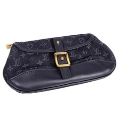Louis Vuitton Anne Sophie Small Denim Blue Canvas & Leather Monogram Pouch Bag