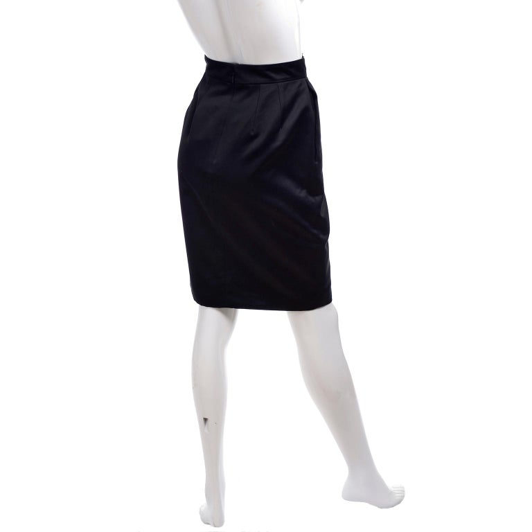 New Gucci Skirt 2011 Black Pencil Skirt W Gold Buckles & Leather Tassels W/ Tags For Sale 2