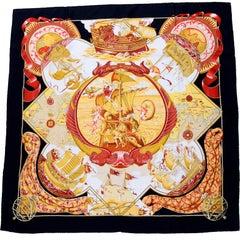 1998 Hermès Au-dela des cinq Mers Silk Scarf by Laurence Bourthoumieux