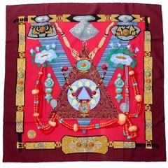 1999 Silk Tibet Hermes Scarf Designed by Caty Latham