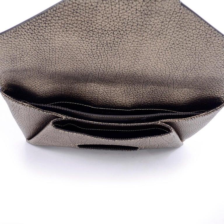 Givenchy Envelope Clutch Medium Antigona Goat Leather Handbag in Bronze Metallic For Sale 3