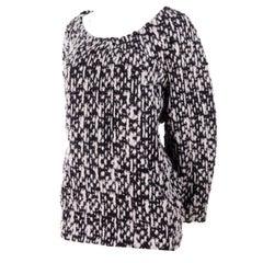 YSL Yves Saint Laurent Runway Sweater in Black and White Wool Tweed