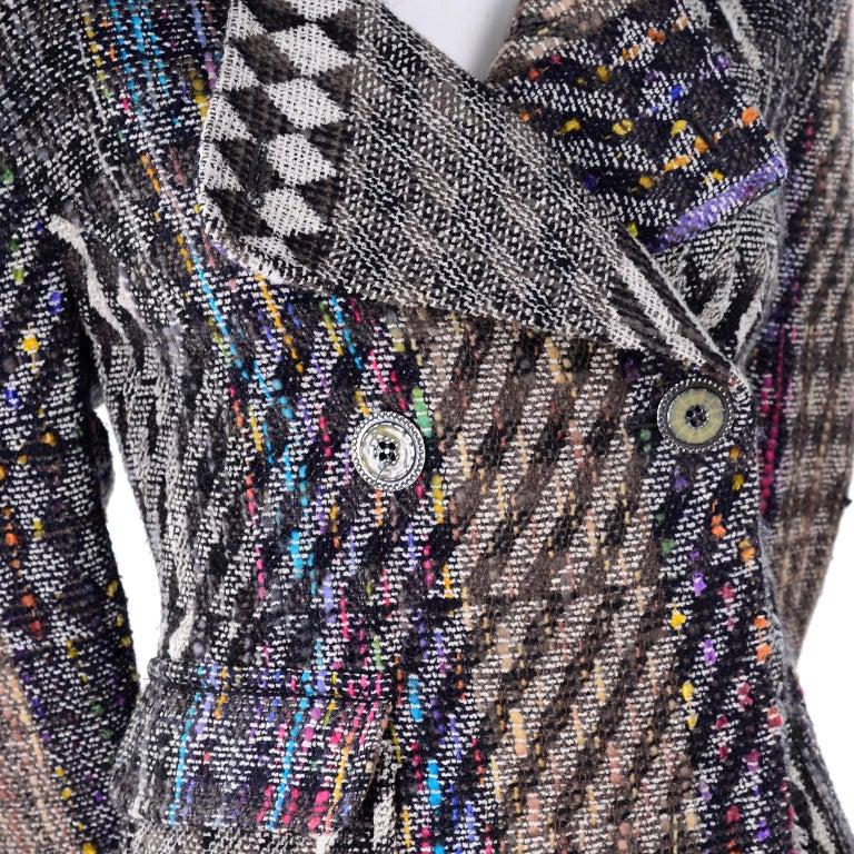 1990s Christian Lacroix Vintage Colorful Mixed Plaid Skirt & Jacket Suit Size 42 For Sale 1