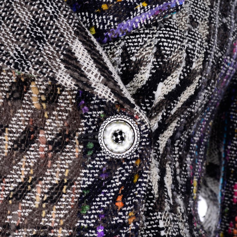 1990s Christian Lacroix Vintage Colorful Mixed Plaid Skirt & Jacket Suit Size 42 For Sale 3