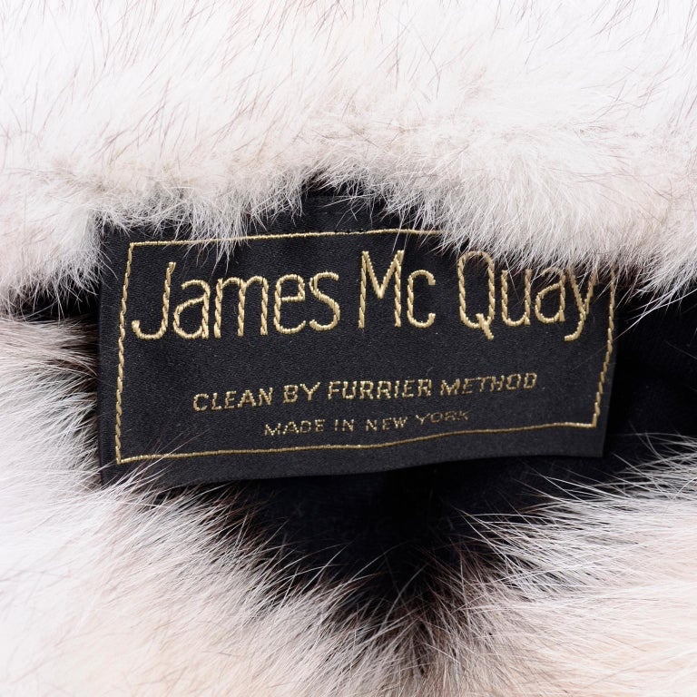 Rare James McQuay Furrier Vintage Fox Fur Hat Made in New York For Sale 2