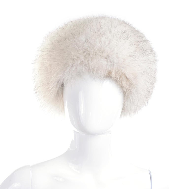 This is a vintage fur hat designed by James McQuay. McQuay called himself