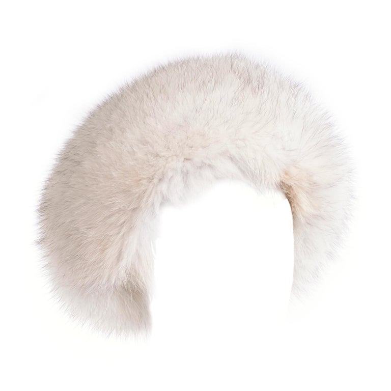 Rare James McQuay Furrier Vintage Fox Fur Hat Made in New York For Sale