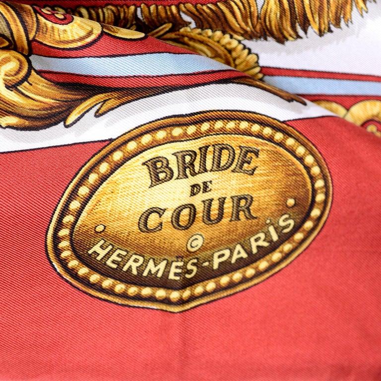 Vintage Hermes Silk Scarf Bride de Cour by Francoise de la Perriere For Sale 8
