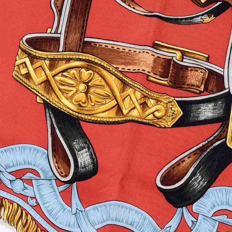 Women's or Men's Vintage Hermes Silk Scarf Bride de Cour by Francoise de la Perriere For Sale