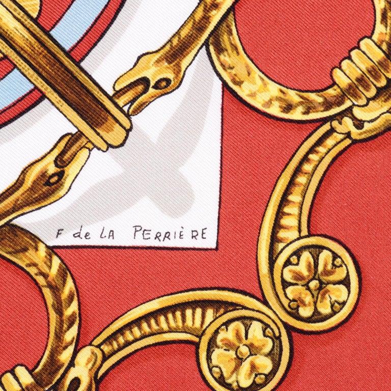 Vintage Hermes Silk Scarf Bride de Cour by Francoise de la Perriere For Sale 1