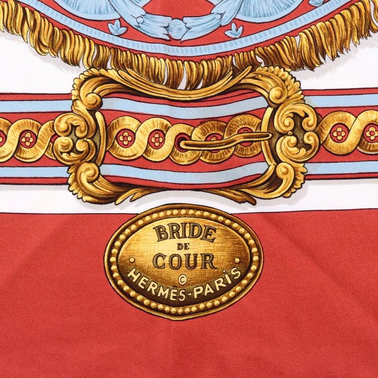 Vintage Hermes Silk Scarf Bride de Cour by Francoise de la Perriere For Sale 2
