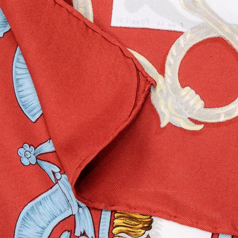 Vintage Hermes Silk Scarf Bride de Cour by Francoise de la Perriere For Sale 4