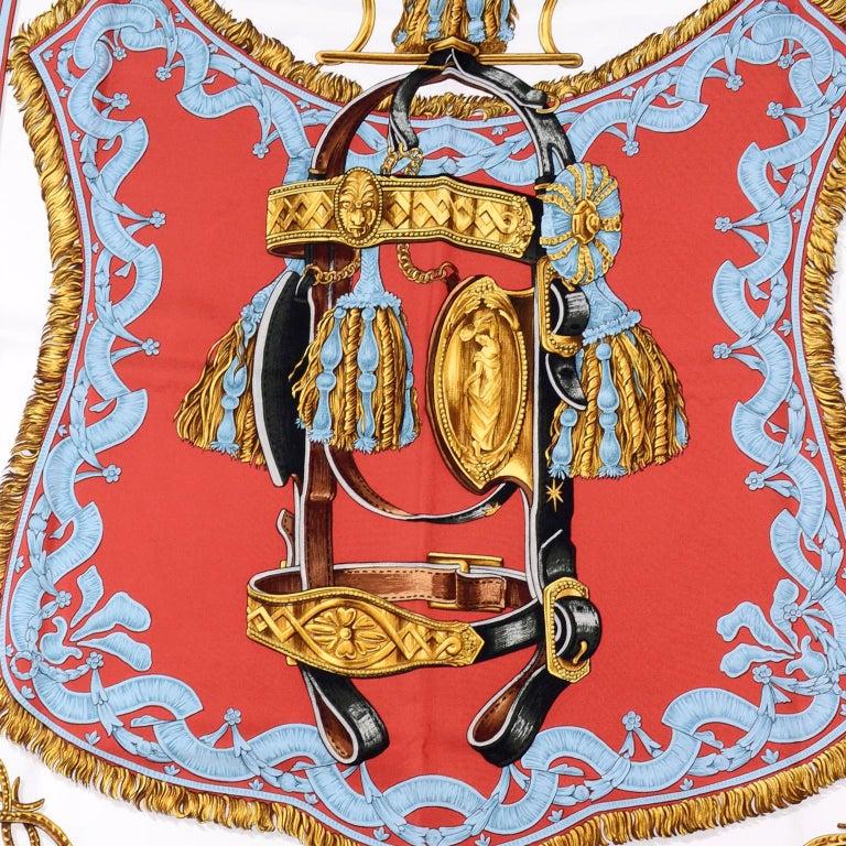 Vintage Hermes Silk Scarf Bride de Cour by Francoise de la Perriere For Sale 5