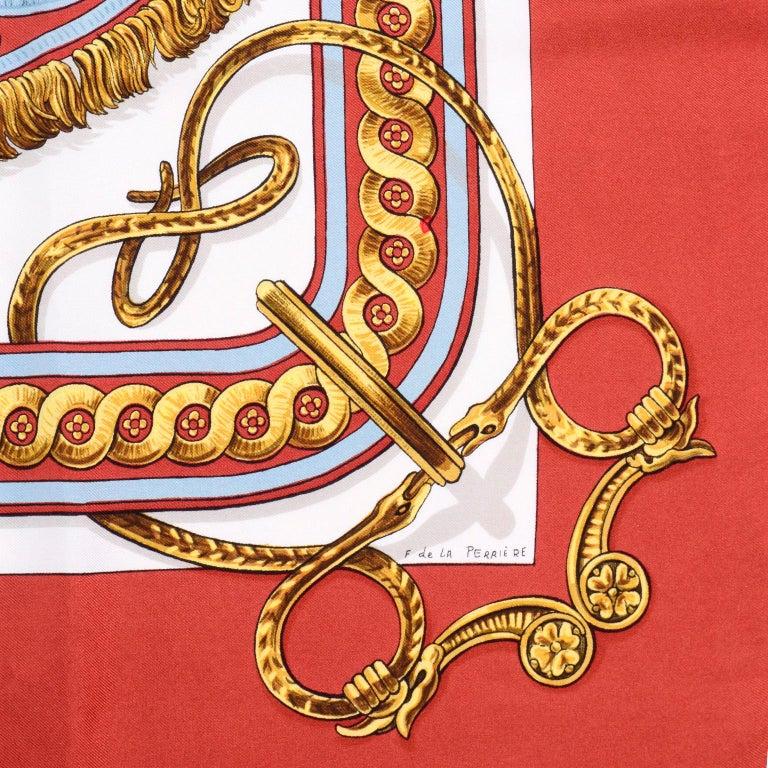Vintage Hermes Silk Scarf Bride de Cour by Francoise de la Perriere For Sale 7