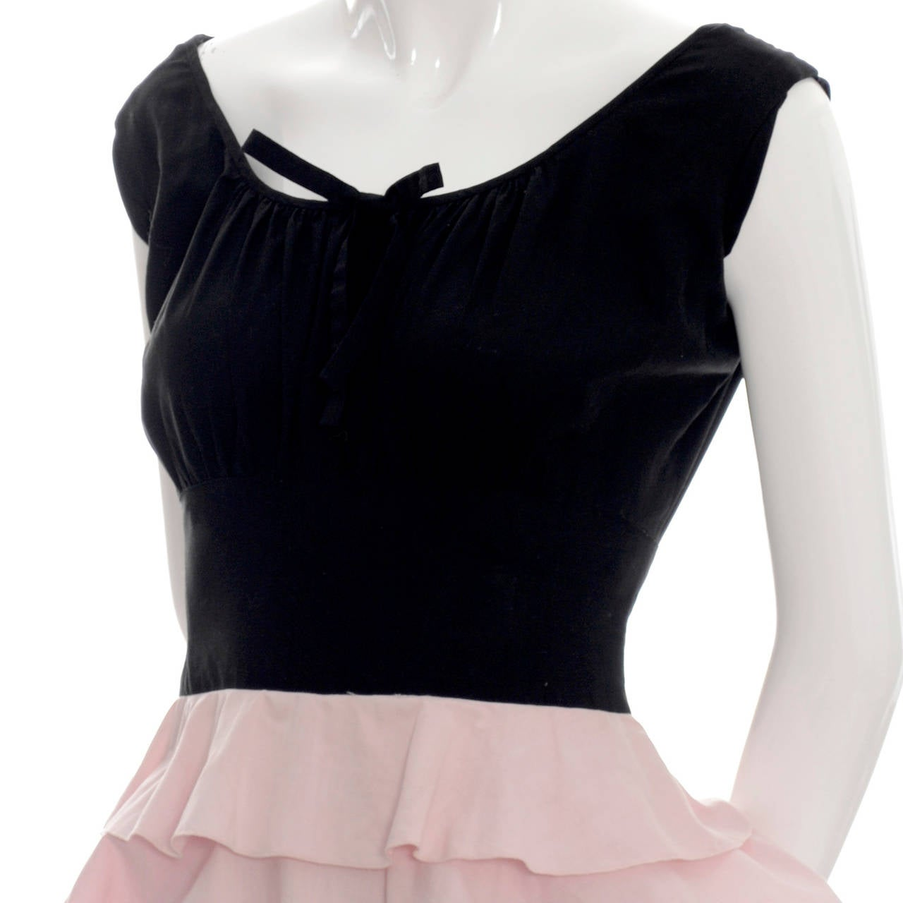 1940s Vintage Gilbert Adrian Original Dress Pink Ruffles Rare Designer Gown 4