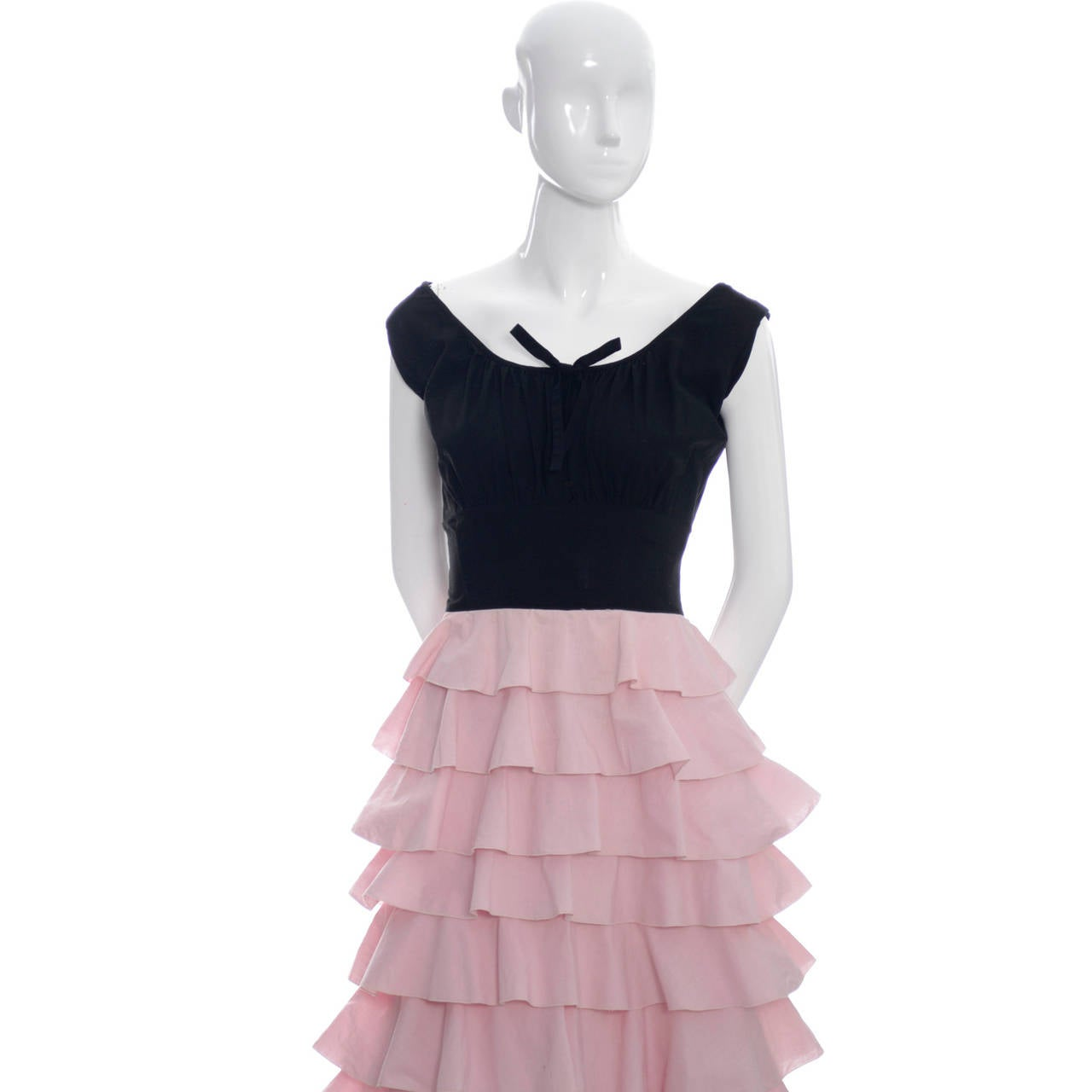 1940s Vintage Gilbert Adrian Original Dress Pink Ruffles Rare Designer Gown For Sale 2