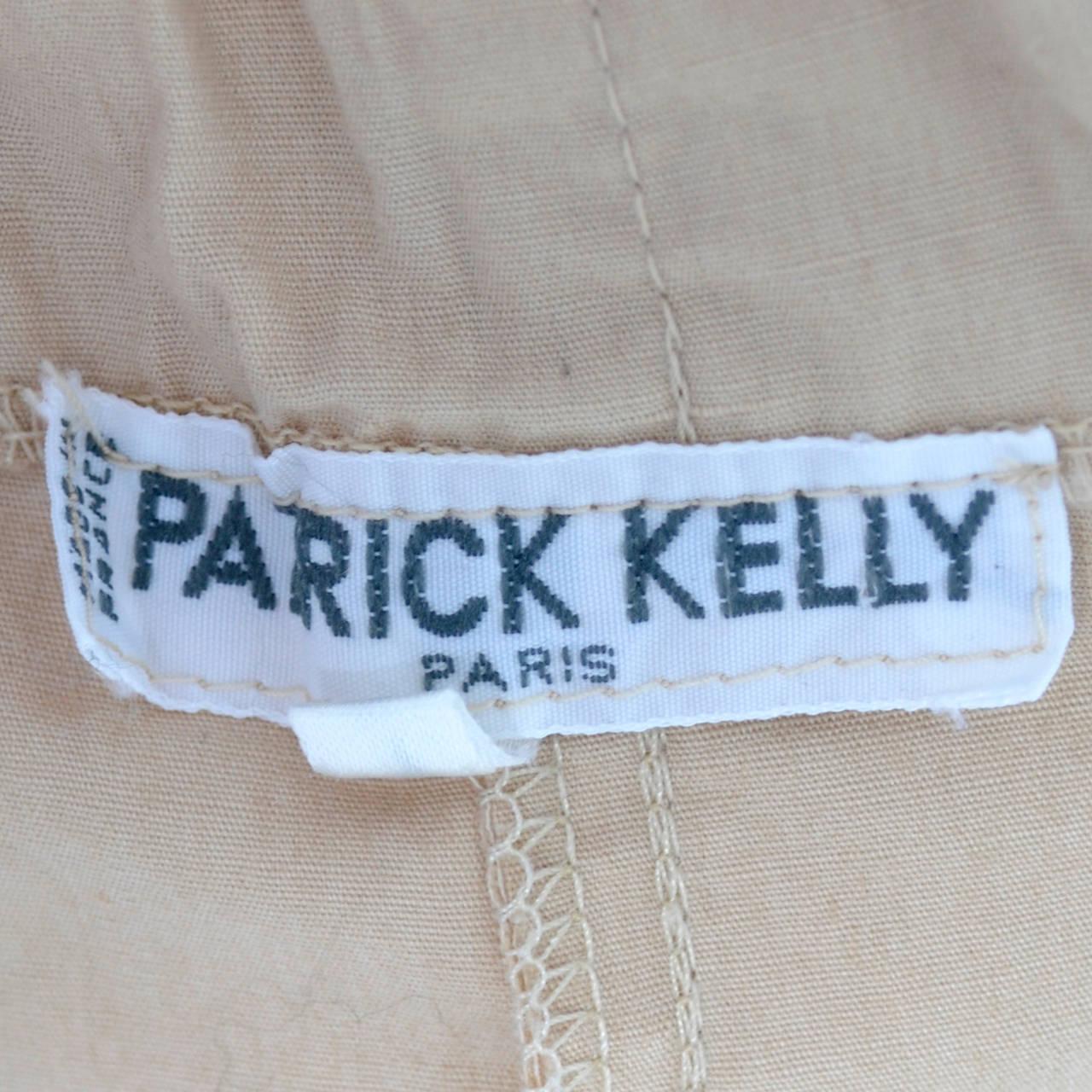 Beige 1980s Patrick Kelly Paris Rare Vintage Harem Parachute Style Pants For Sale