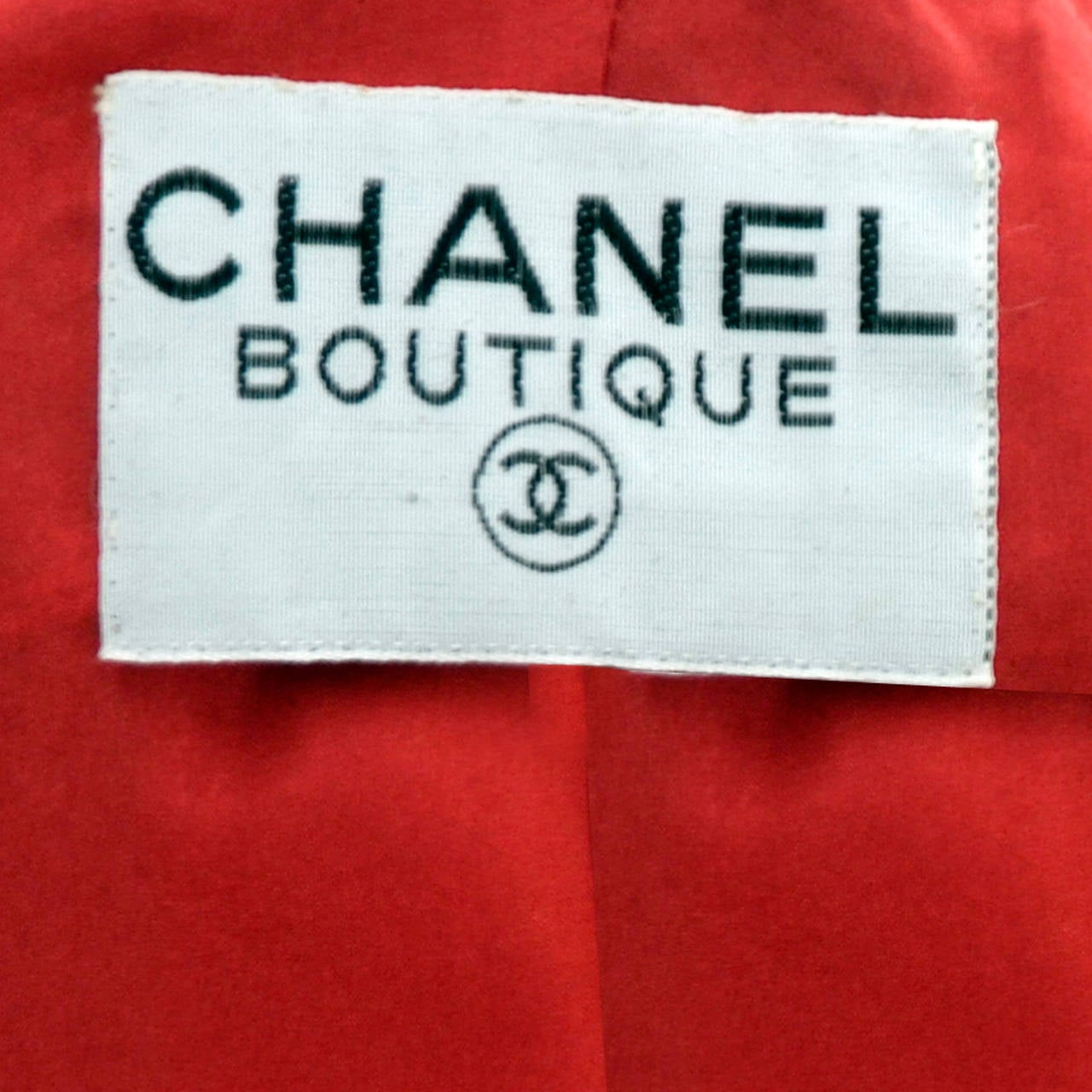 1985 Chanel Documented Vintage Suit Skirt Blazer & Silk Blouse Red White & Blue 9