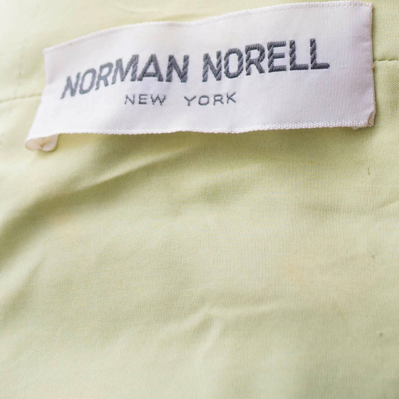 Women's 1960s Vintage Norman Norell Sleeveless Green Shift Dress For Sale