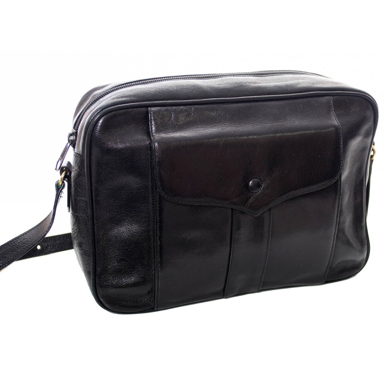 yves saint laurent replica clutch - 1970s YSL Yves Saint Laurent Leather Vintage Handbag Shoulder Bag ...