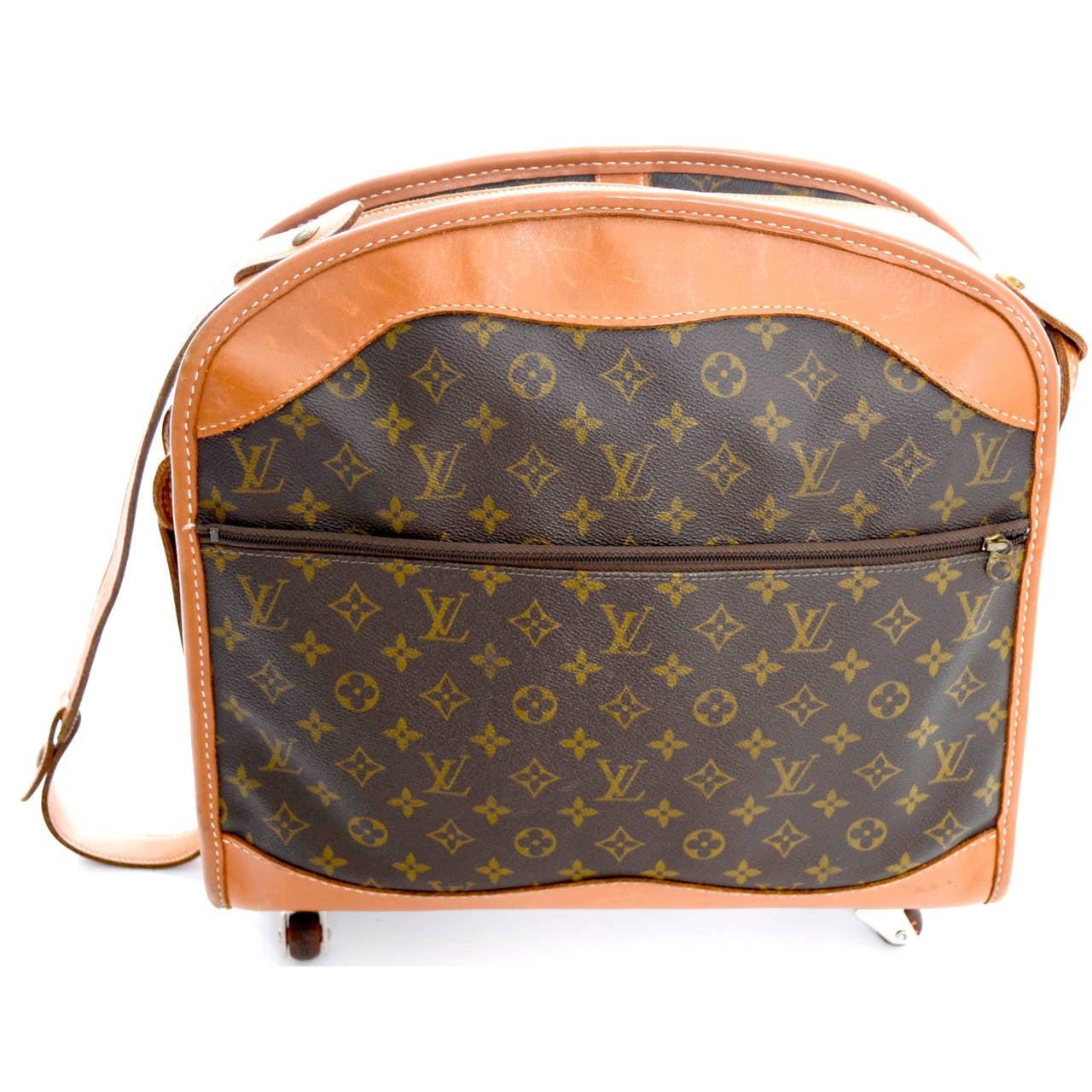 authentic vintage louis vuitton rolling monogram canvas weekender bag luggage at 1stdibs. Black Bedroom Furniture Sets. Home Design Ideas
